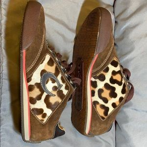 Coach new leopard print sneakers